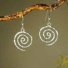 66bae951c Jewelry by Dawn Hammered Swirl Sterling Silver Earrings | Overstock.com  Shopping - The Best