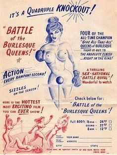 Burlesque Queens Battle in Smut by Mail Book Vintage Graphic Graphics!