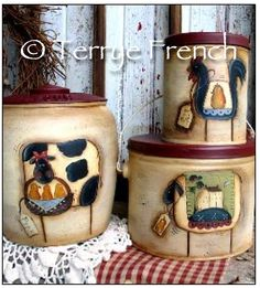 Mismatched Canister Set - by Terrye French, E-Pattern by PaintingWithFriends on Etsy