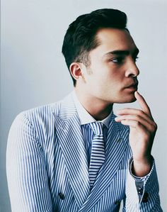 navy stripes. missing summer! ed westwick