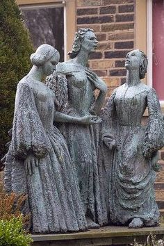 The Bronte sisters in West Yorkshire, England.