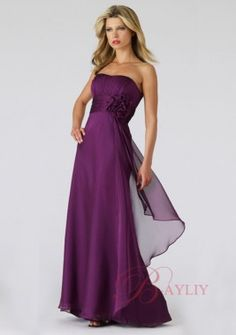 Cheap Purple Bridesmaid Dresses Long Chiffon WPD01192
