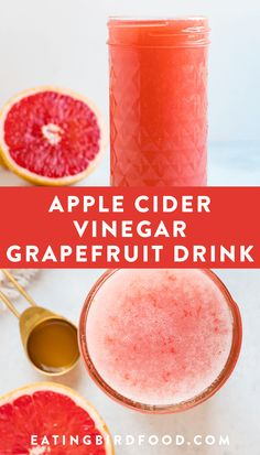 This grapefruit apple cider vinegar drink is an awesome immune booster and a tas. This grapefruit Apple Cider Vinegar Diet, Apple Cider Vinegar Remedies, Apple Cider Vinegar For Weight Loss, Natural Cough Remedies, Cold Home Remedies, Natural Cures, Natural Health, Herbal Remedies, Health Remedies