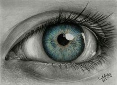 Drawing eye by alaadin.deviantart.com on @deviantART