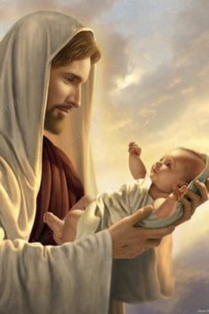 There is comfort that Jesus holds my grandchild in his loving arms.