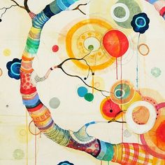 Turn by liz tran Trans Art, Abstract City, Shape Art, Mural Wall Art, Whimsical Art, Color Inspiration, Illustration, Graphic Art, Collage