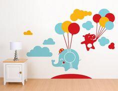 00599 Sticker Wall Stickers Wall Stickers kids wallpaper Walls Baby Nursery Rooms Children Flying Animals 06