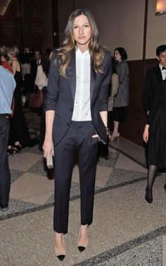 I saw Jenna Lyons wear cropped pants with a tuxedo blazer. So I bought cropped pants and a tuxedo blazer.