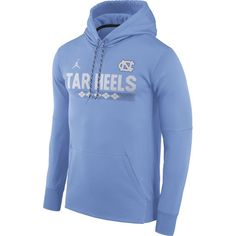 1e445687a839 Jordan Men s North Carolina Tar Heels Carolina Blue Football Sideline  Pullover Therma-FIT Hoodie