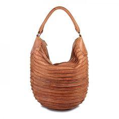 mynewbag.de - #FREDsBRUDER Riffeltier S Ledertasche #Shopper #Handtasche Beuteltasche cognac