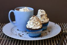mexican hot chocolate cupcakes  recipe found here:  http://www.cheekykitchen.com/2010/12/mexican-hot-chocolate-cupcakes.html