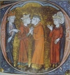 King Baldwin IV makes the barons swear fealty to the future Baldwin V.
