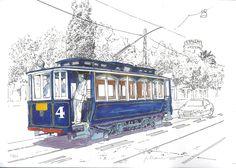 Barcelona 1901. Tranvía Azul 4 al Tibidabo
