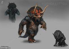 Humanoid Lion   Triceratops Humanoid by Raph04art.deviantart.com on @deviantART
