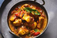 Get-Ahead Chicken Tikka Masala ~ With charred chicken in a rich creamy sauce, this is a crowd-pleasing curry. Keep this creamy freezer-friendly chicken tikka masala curry on hand for busy weeknights. Indian Food Recipes, Gourmet Recipes, Cooking Recipes, Ethnic Recipes, Savoury Recipes, Indian Foods, Indian Dishes, Meat Recipes, Salad Recipes