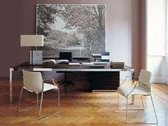 Executive Office Furniture -B&B Italia 项目 - Design of Monica Armani Max Alto, Executive Office Furniture, B & B, Corner Desk, Dining Table, Office Designs, Home Decor, B&b Italia, Homemade Home Decor