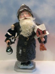Antique-German-style Santa CANDY CONTAINER~PUTZ HOUSE~German-head doll~OOAK