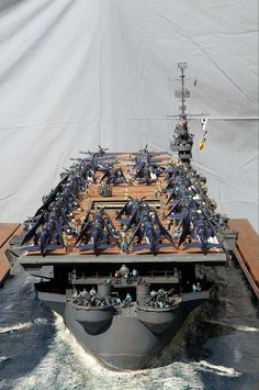 """1/72nd Scale - """"USS SANGAMON"""" (CVE-26) a (553') Sangamon Class Escort Carrier - was Converted from a Cimarron Class Oiler - Built  by Rene Hieronymus  (2)"""