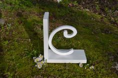 Single Letter Bookend Personalized bookends by ProfessorFinley, $15.00