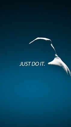 ↑↑TAP AND GET THE FREE APP! Art Creative Nike Quotes Just Do It Motivation Logo Blue HD iPhone Wallpaper