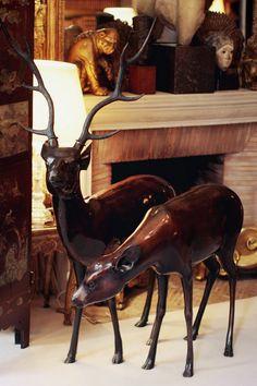 Bronze Deers in Coco Chanel's private apartment at 31, rue Cambon, Paris | Coco Chanel #CocoChanel #31RueCambon Visit espritdegabrielle.com | L'héritage de Coco Chanel #espritdegabrielle