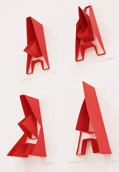 typography cutouts paper folds