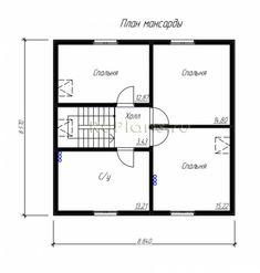 Каркасные дома 8 на 8 с мансардой –про технологию, советы по строительству и примеры проектов