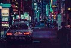 Liam Wong - Graphic design director - Video Games - Ubisoft #cyberpunk #photography #night