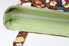 Super- Tutorial für das Einsetzen eines Reißverschlusses in Taschen wie abgebildet!