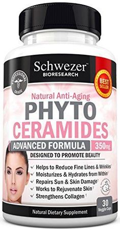 Phytoceramides 350 mg Formulated by Doctors. Gluten Free, Non GMO. Powerful Anti-Aging Skin Care & Skin Rejuvenation. Reduce Fine Lines & Wrinkles (from Sweet Potato) Made in USA. Money Back Guarantee *** Read more reviews of the product by visiting the link on the image.