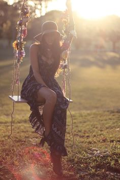 Boho Maxi dress on the swing or in the tall grass of the field at the studio backlot Marci and Victor Photography  what to wear, #marciandvictor Senior pictures, photoshoot senior style, tween, senior picture ideas girls, trends for senior pictures, W2W  Marci Ralph photography, marci and victor photography, indiana, indianapolis