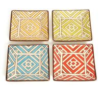 Vagabond Vintage Handpainted Moroccan Square Dishes set of 4...I want these!  I wonder where you can get them?