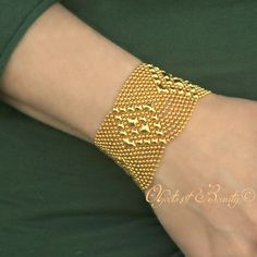 Golden Liquid Diamond Bracelet