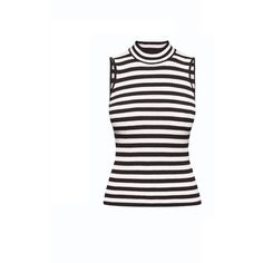 Rumour London - Henley Black Striped Sleeveless Top (1,680 MXN) ❤ liked on Polyvore featuring tops, nautical top, striped tank, striped tank top, striped sleeveless top and stripe tank top