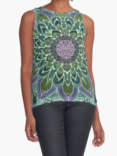 Sold! 1x Contrast Tank of Hand Drawn Pink Purple Mandala on Dark Size: L Body Color: White By Sviatlana Kandybovich Thank you, Buyer! #redbubble