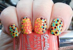Petite & Polish: Nail Art A-Go-Go, Day 27: Pointillism