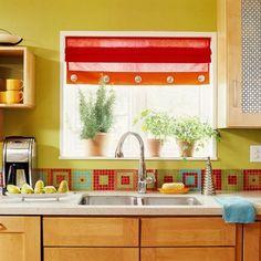 36 Colorful And Original Kitchen Backsplash Ideas - DigsDigs