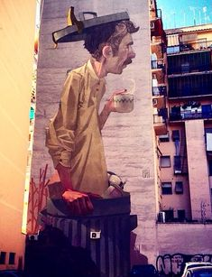 Building art by ETAM Cru in Rome proves once again that art can add sparkle to…