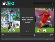 Who will win the Golden Boot Messi or Ronaldo? Vote at hitVO.com