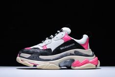 e3978b2b5f52 Balenciaga Triple S Sneaker Pink Black Shoes SALE at amazing price!!! Plz  pay