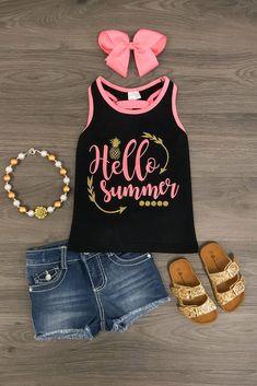 """Hello Summer"" Tank Top"