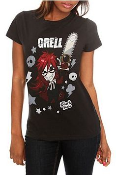 Of course you'll want the matching Black Butler Grell shirt to go with your belt >.