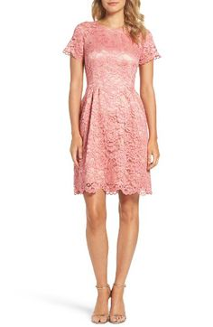 Vince Camuto Vince Camuto Lace Fit & Flare Dress available at #Nordstrom