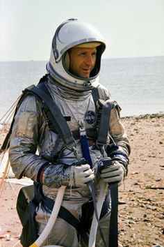 On August 23, 1965, Gemini 6 astronaut Tom Stafford trains for space in…