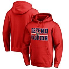 Florida Panthers Fanatics Branded Big & Tall Hometown Collection Defend Pullover Hoodie - Red