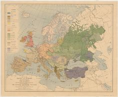Map of the races of Europe, 1919
