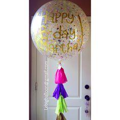 Confetti Big Balloon Rio Grande Valley. Big Balloon para cunmpleaños. Valle de Texas, Mcallen y Mission. Lebigballoon@gmail.com / Instagram: @lebigballoon