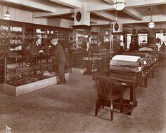 Abercrombie & Fitch Co., Sporting Goods, Interiors of Salesroom with Customers