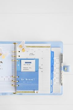 Planner Inspiration: Decorate your perforated leather Ice Blue Planner with gorgeous Be Brave Accessories