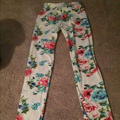 Leggings Flower design leggings Pants Leggings